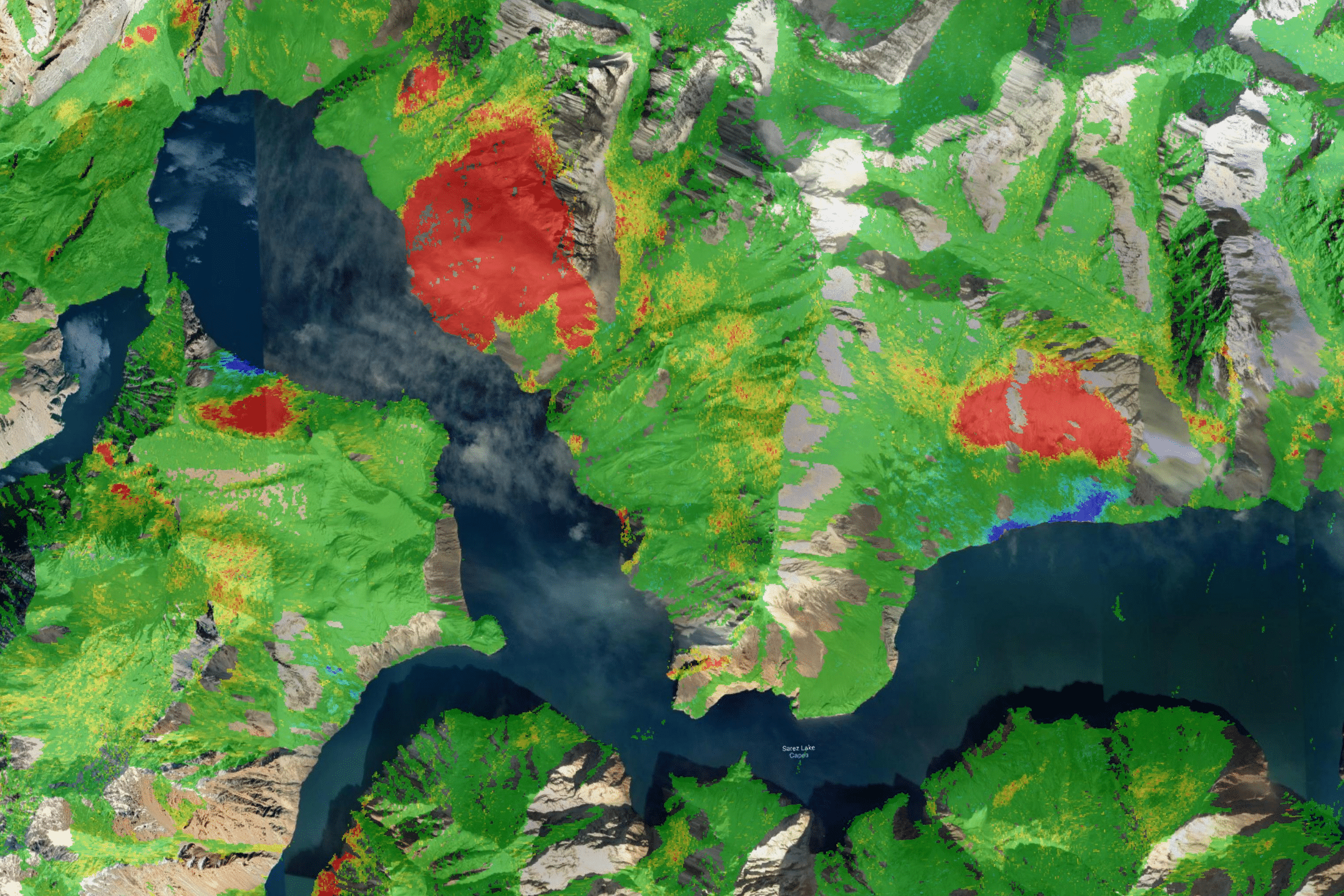 Satellite image of Lake Sarez