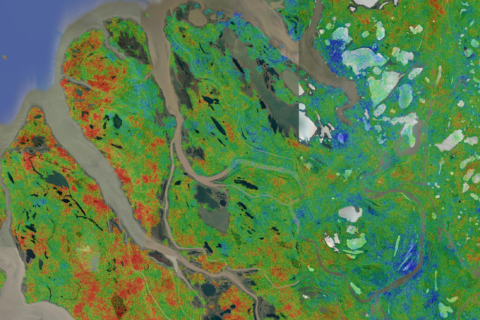 satellite image of permafrost